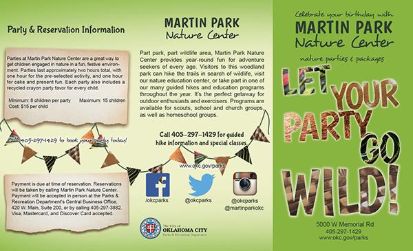 martin park birthday brochure on student show