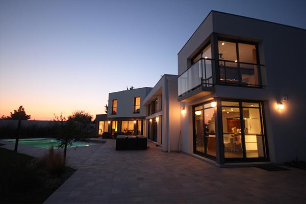 Maison individuelle neuve 01 on architecture served for Maison individuelle neuve