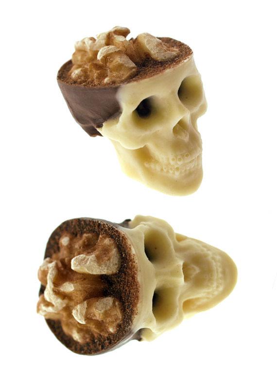 chocolate skull nuts jelly brain sweet walnut