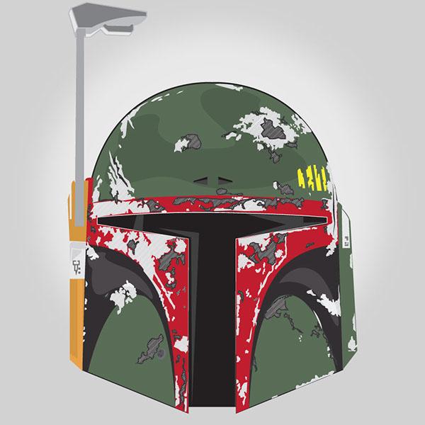 The dented helmet on Behance