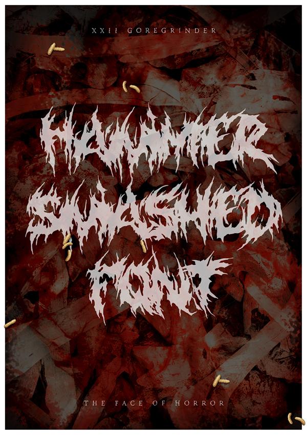 gore grind Goregrind Deathmetal Blackmetal deathcore grindcore metal horror Typeface font