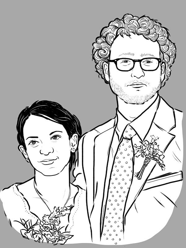 portrait portrait illustration custom portrait Pet portraits animals couples portraits Love