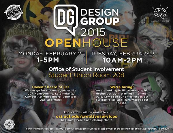 ucf osi design group open house flier on behance