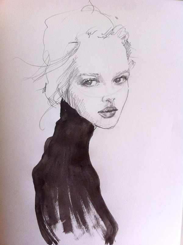Fashion Portrait Drawing Fashion Portrait on Behance