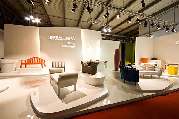 Exhibition Stand Design Furniture : Serralunga stand salone on behance