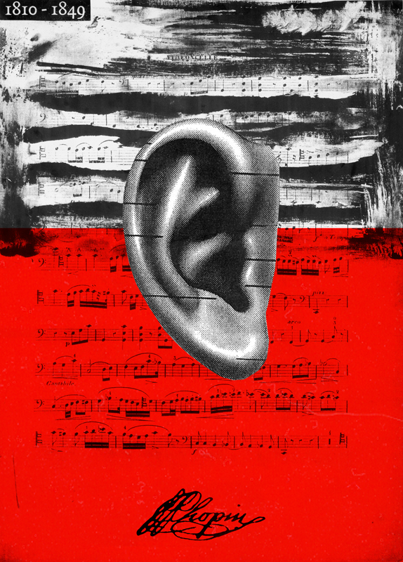 poster Classical texture Chopin