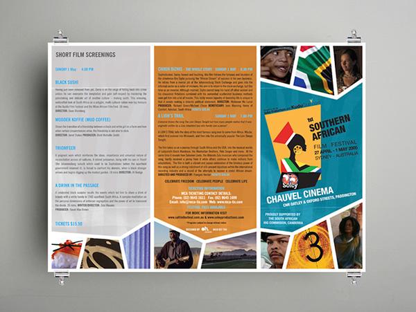 festival brochure design - southern african film festival on behance