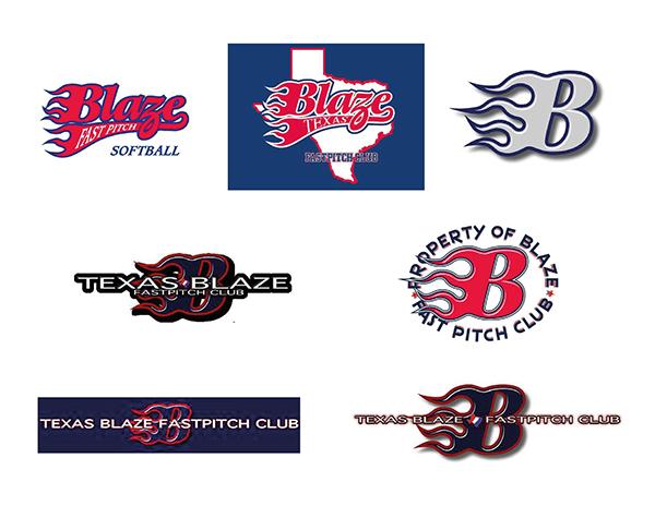Texas Blaze Fastpitch Club Identity On Behance