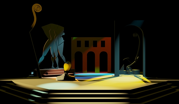 De Chirico S Paintings Stage Scenic Design On Behance