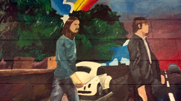 Abbey road mural senior project 2011 on behance for Beatles abbey road wall mural