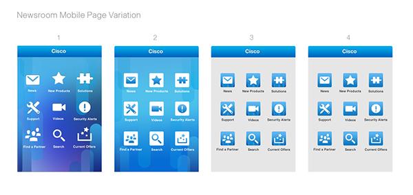Cisco newsroom layout design for cisco mobile app on behance for App layout design online