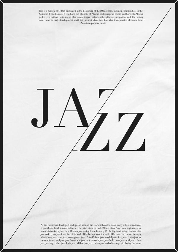 Modern jazz music poster. on Behance