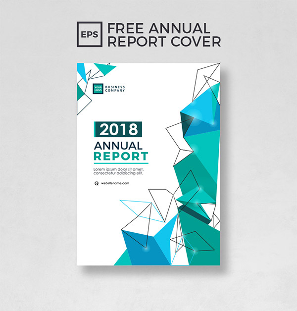 free annual report cover template on behance