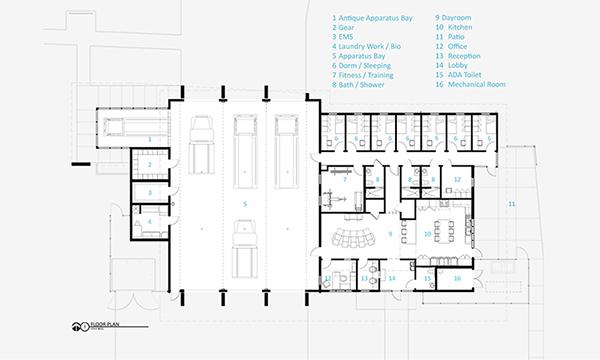 I410 Dunedin Fire Station 61 on Behance – Fire Station Floor Plans