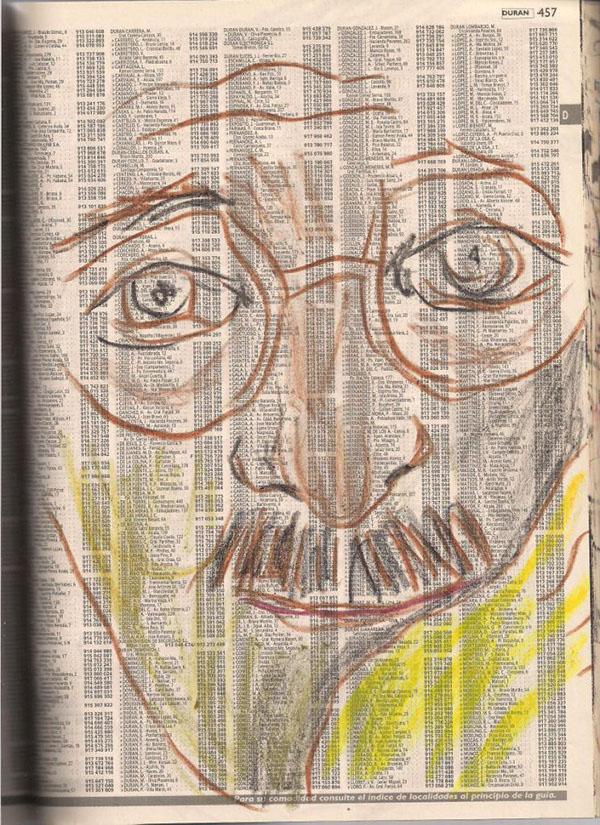 drawn portraits over colored pencils black and white paper portraits faces peole man figure watercolor