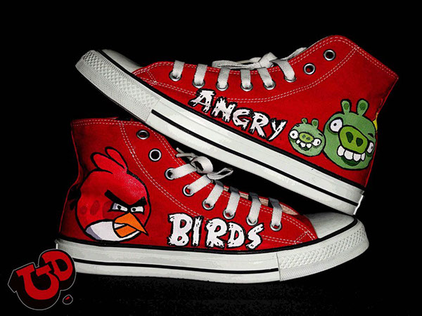 1c71d3366410 angry birds hand painted converse !!!