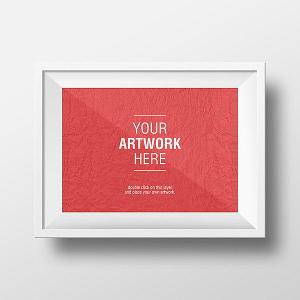 Free Frame Mock-up on Behance