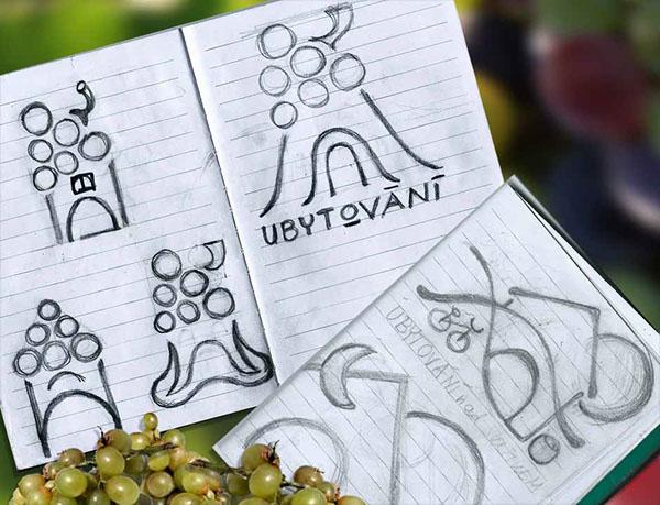 logo wine agrotourism countryside Moravia family accomodation vineyard bio vino da casa cyclotourism agroturismo GraphicBurger mock-up pin button
