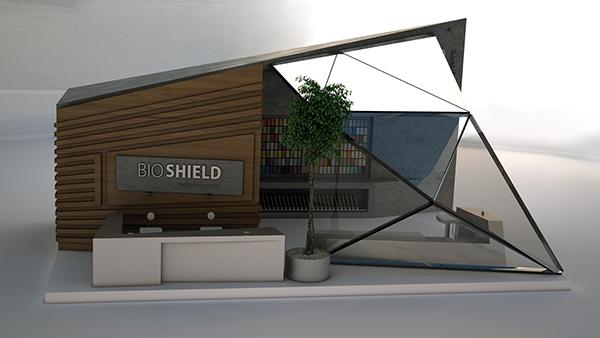 Bio shield concept pavilion on student show for Pavilion concept architecture