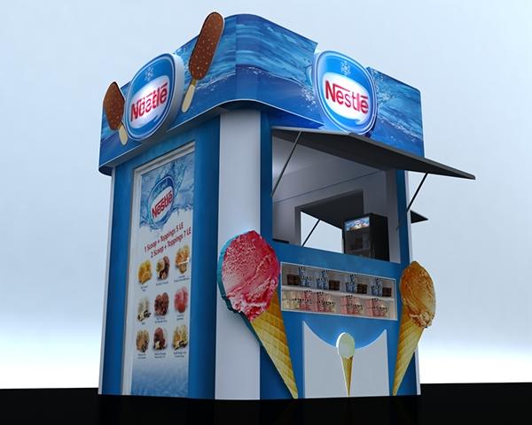 Nestle Exhibition Booth : Nestle ice cream kiosk on behance