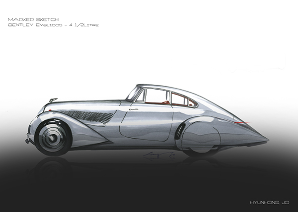 Marker Sketch Bentley Emblicos On Ccs Portfolios