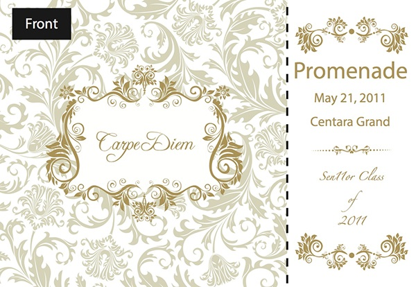 prom ticket design on behance