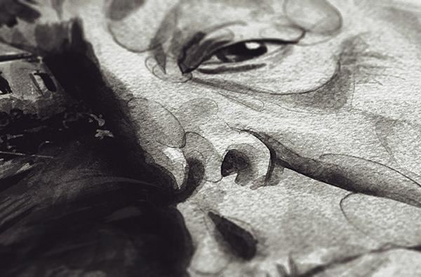 stellavie Julian Rentzsch watercolor aquarell portrait alfred hitchcock martin scorsese David Lynch print poster art sketch Movies Cinema director
