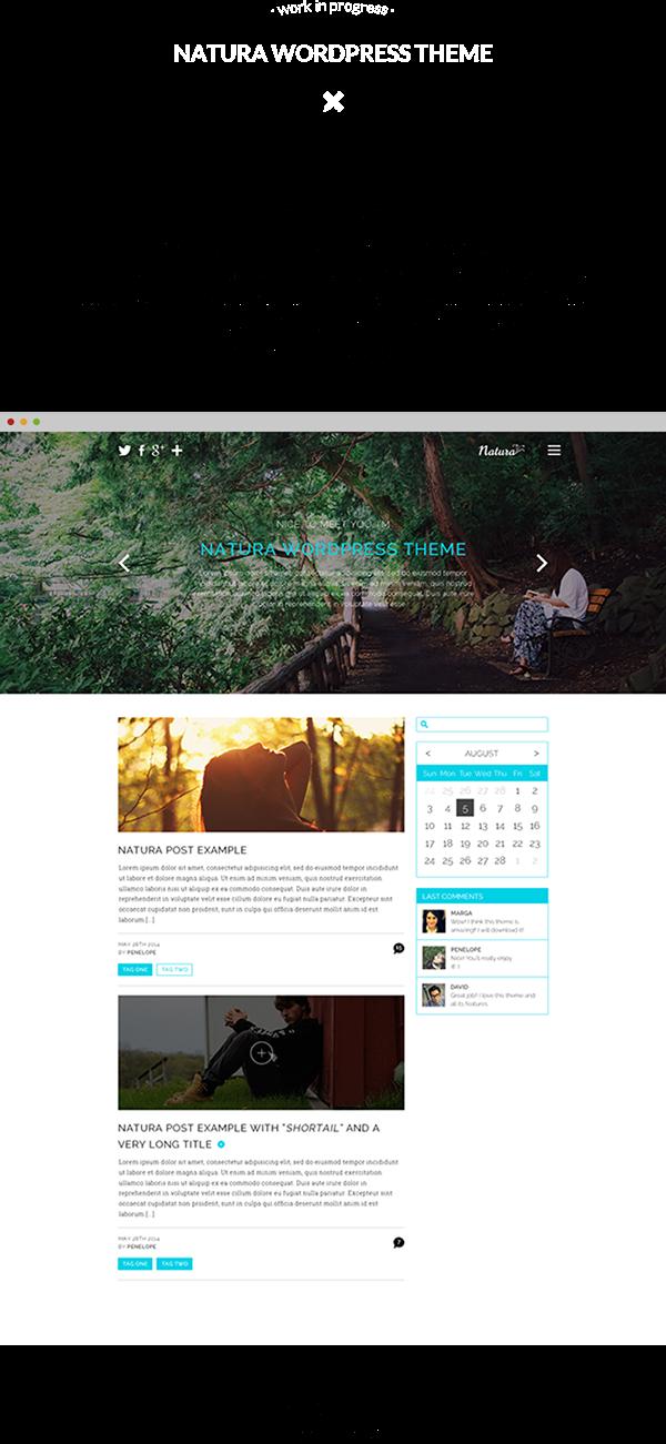 wordpress Theme natural design slider sidebar Blog posts