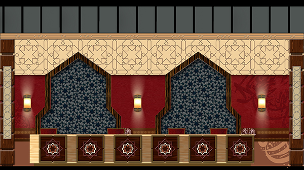Islamic reception hotel design on behance for Islamic interior design ideas