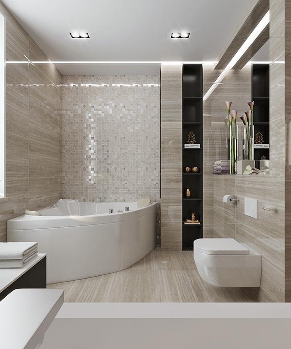 Beige Bathroom Design On Behance