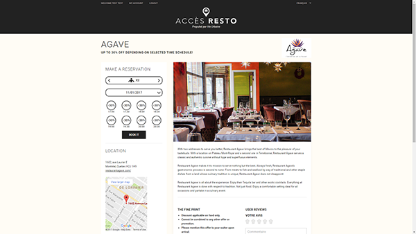 Accès Resto Detail image