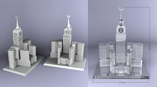 3d Exhibition Stand : Abraj al bait towers mecca crystal model on behance
