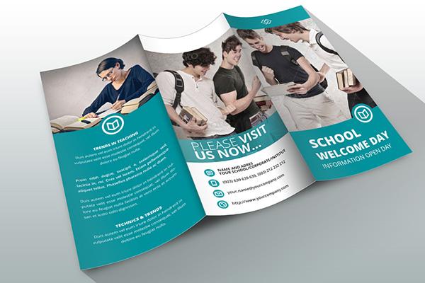 indesign brochure template school on behance