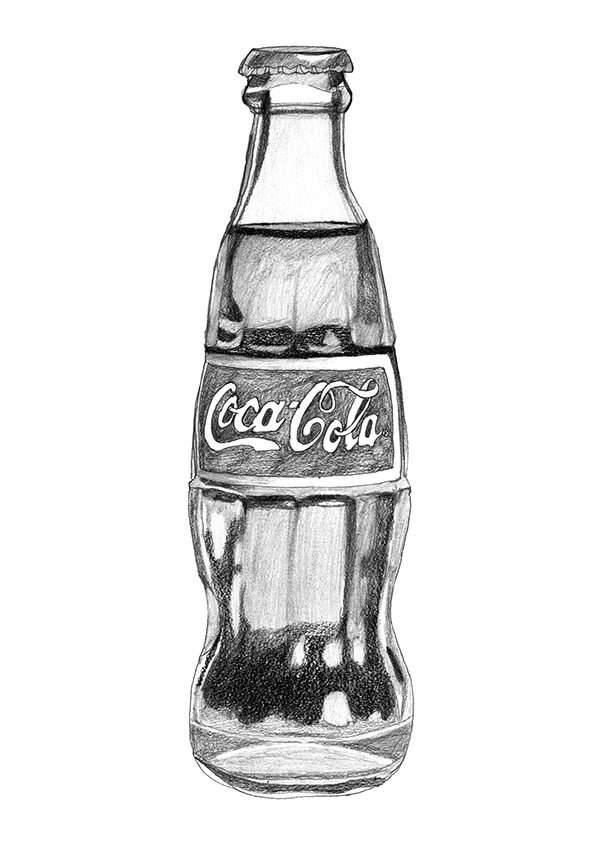 It is a photo of Breathtaking Drawing Of Bottle