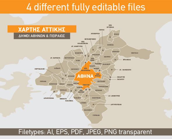 Attiki Map Bundle Of 4 Different Maps On Behance
