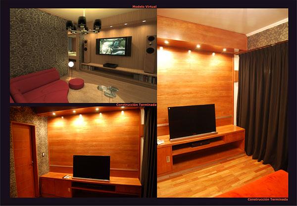 sala de audio y video ba o anteba o muebles de ma on