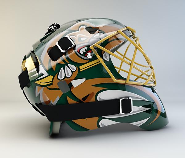 everett silvertips goalie mask concept on behance. Black Bedroom Furniture Sets. Home Design Ideas