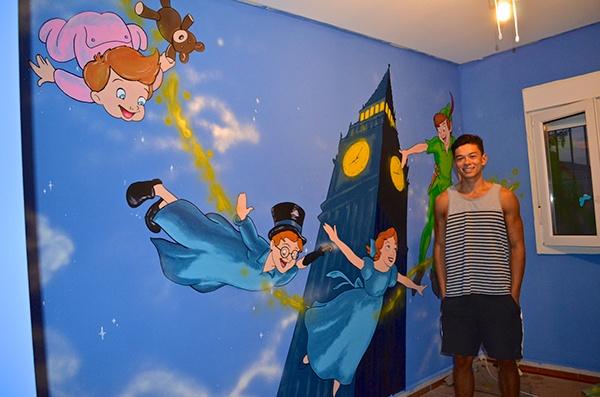murales peter pan imagui