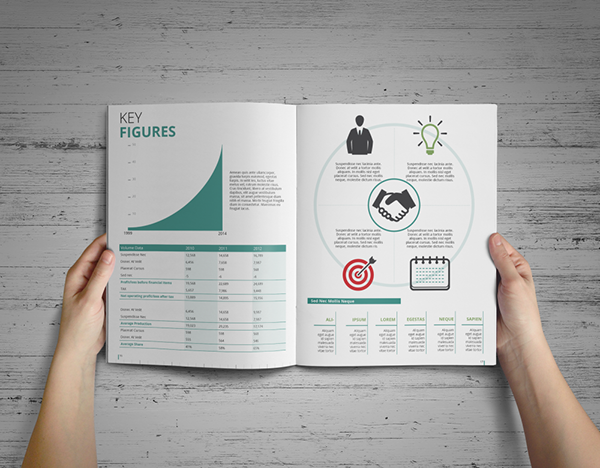 Simple Annual Report Template on Behance – Sample Annual Report Template