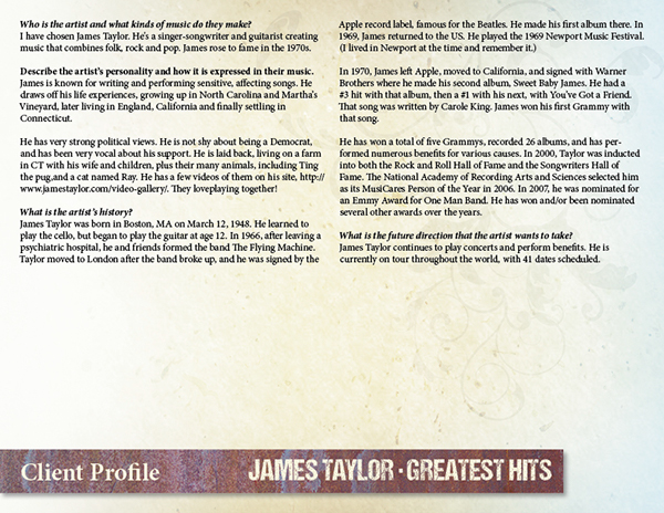 CD Package for James Taylor—Redesign of 1976 Album on Behance