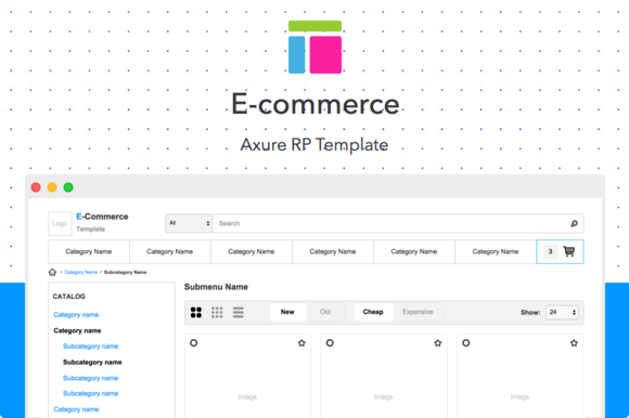 Axure template / E-commerce by Axemplate on Behance