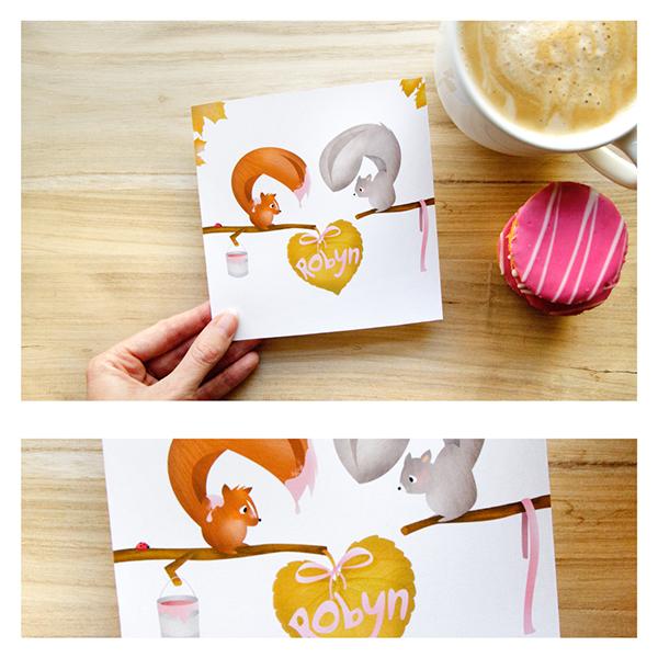 Squirrel Birthday Card On Behance