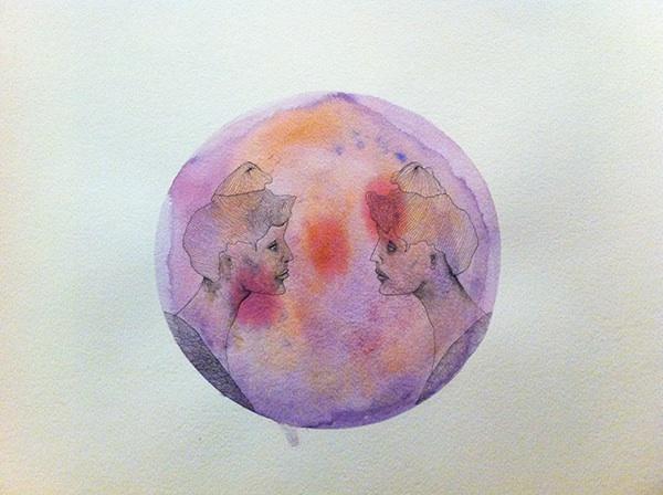 dames watercolors Mandala