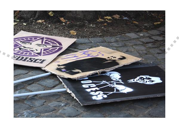berlusconi No-B-Day Stampino Manifestazione roma