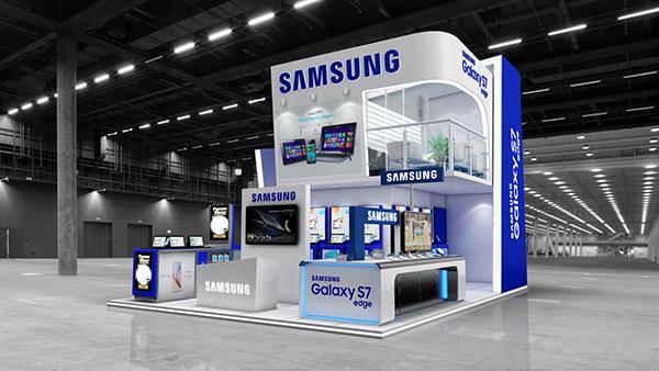 Exhibition Stand Design Illustrator : Samsung exhibition stand design on behance