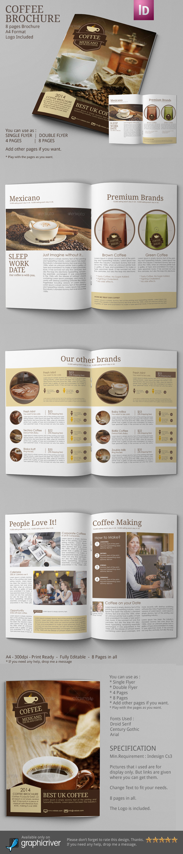Coffee Coffee Brochure  coffee brochure template coffee brochure design coffee cup coffee branding coffee shops Coffee Business Coffee Advertising sell coffee online Coffee Store coffee publication