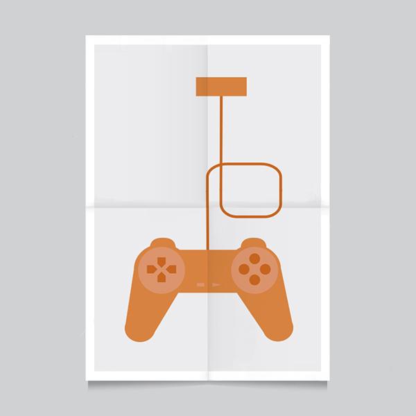 Icon set flat design game crabtoon valerio VINCENZO merenda Katrin ann orbeta color poster