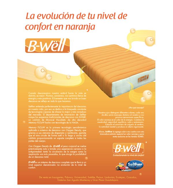 ilustracion brand publicidad colchones Selther B-Wëll infografia Gráficos ilustration mattress descanso rest mexico Guadalajara Tepachelabs