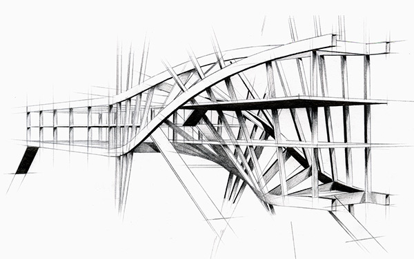 Steel Frame Drawings Concept Frame Structure