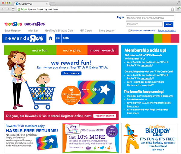 Toys R Us Credit Rewards Card On Pratt Portfolios